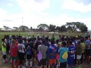 Mais de 120 jovens participam do peneirão do calango