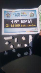Dupla é presa com 12 papelotes de maconha na zona rural de Belo Jardim