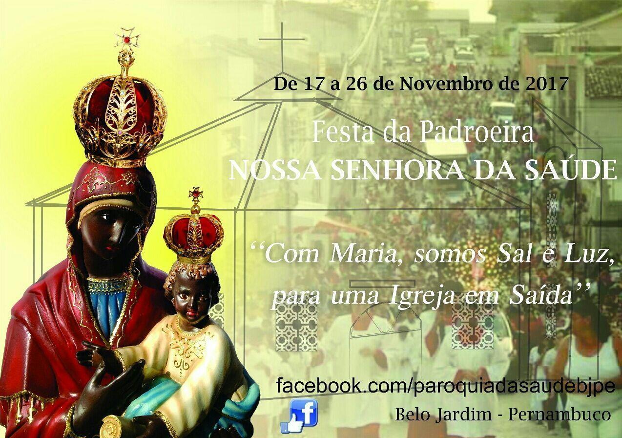 Festa de Nossa Senhora da Saúde começa nesta sexta-feira em Belo Jardim