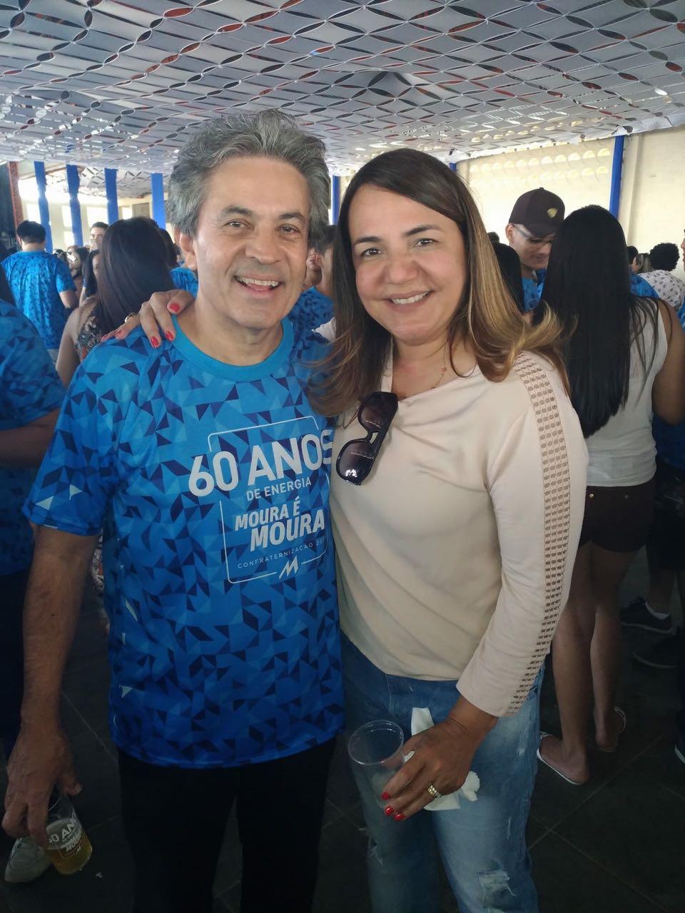 Diretores do Grupo Moura, Andréa Mendonça e outros convidados na Confra dos 60 anos da Moura