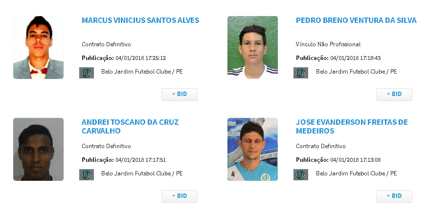Treze atletas do Belo Jardim são regularizados no BID da CBF