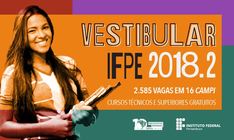 Vestibular IFPE reabre período para candidatos solicitarem isenção