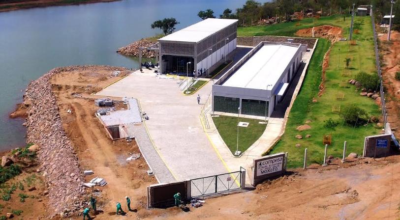 Barragem do Moxotó, localizada no distrito de Rio da Barra, em Sertânia. Foto: Divulgação / Compesa