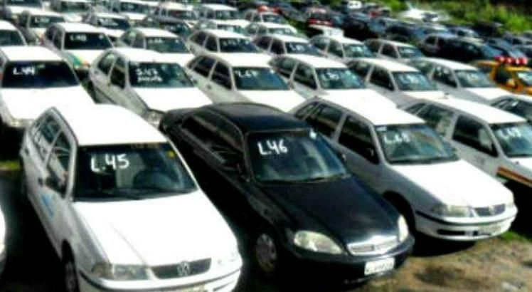 Os veículos serão leiloados no estado de conservação que se encontrarem Foto: Divulgação/Arquivo