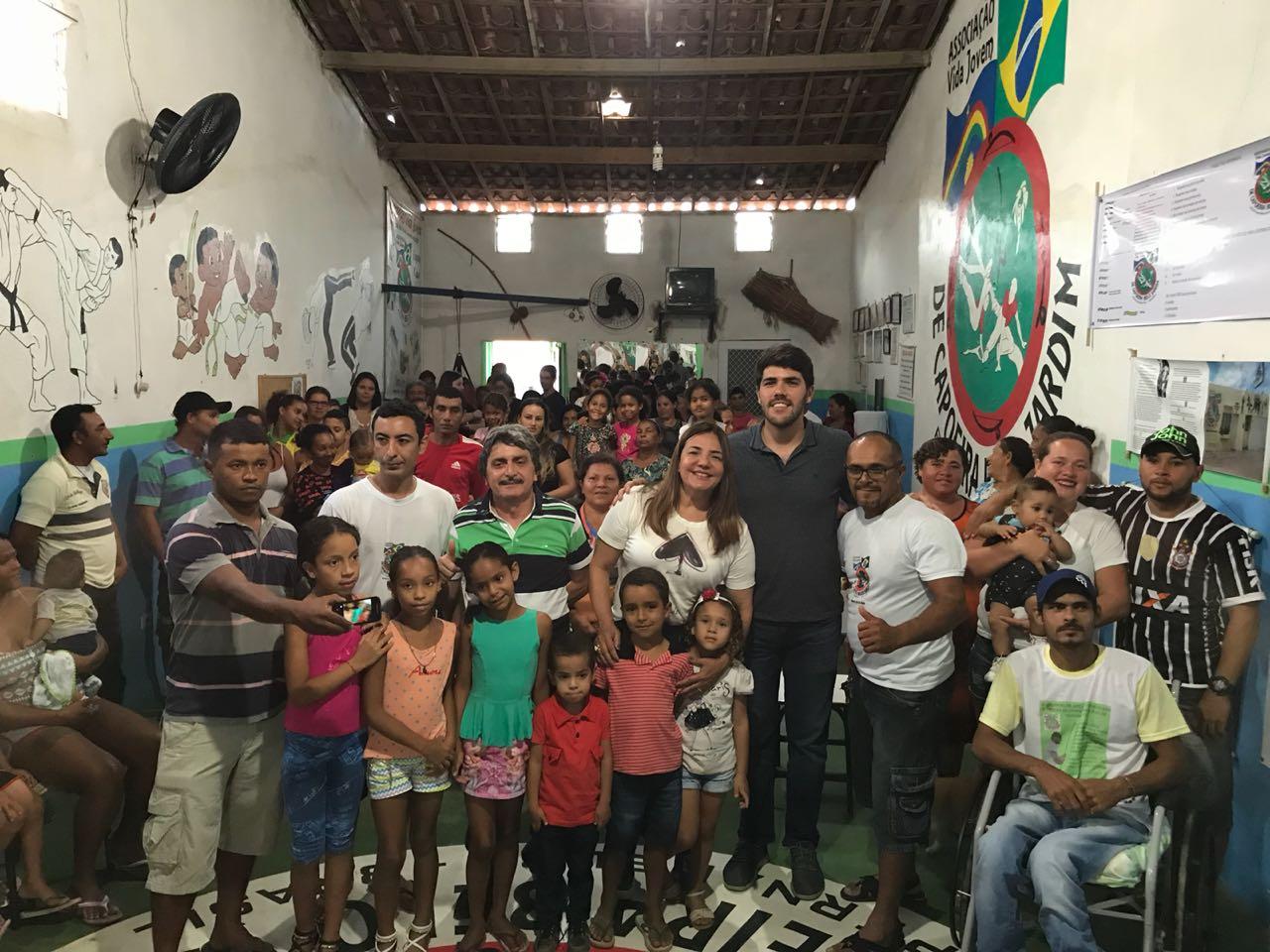 Andréa e Vinícius cumpriram agendas em comunidades rurais e associação de capoeira