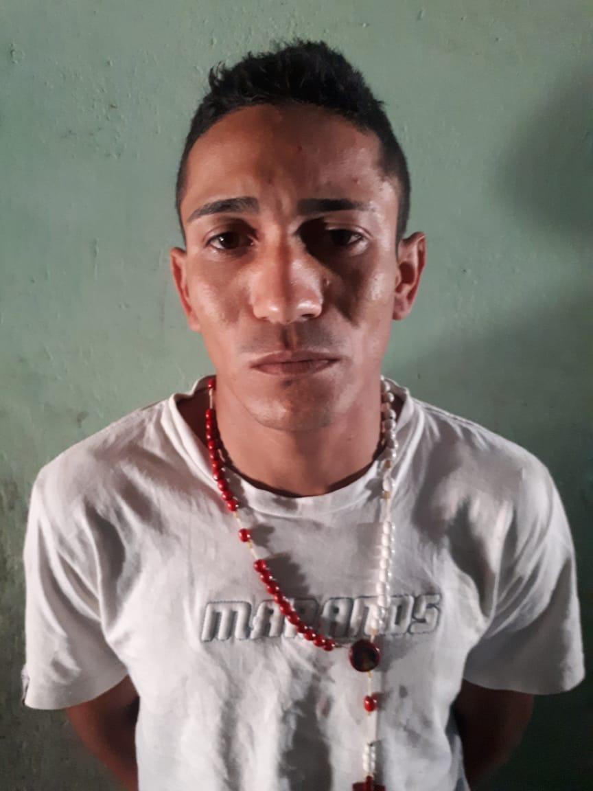 Luiz da Silva Júnior foi preso em uma residência no bairro do Santo Antônio. Foto: Divulgação / PM