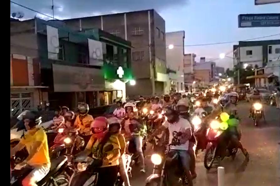 Carreata pró-Bolsonaro reúne cerca de 500 veículos em BJ, segundo organizadores