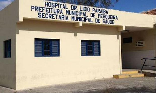 Suspeito foi levado para o Hospital Dr. Lídio Paraíba, em Pesqueira / Foto: divulgação