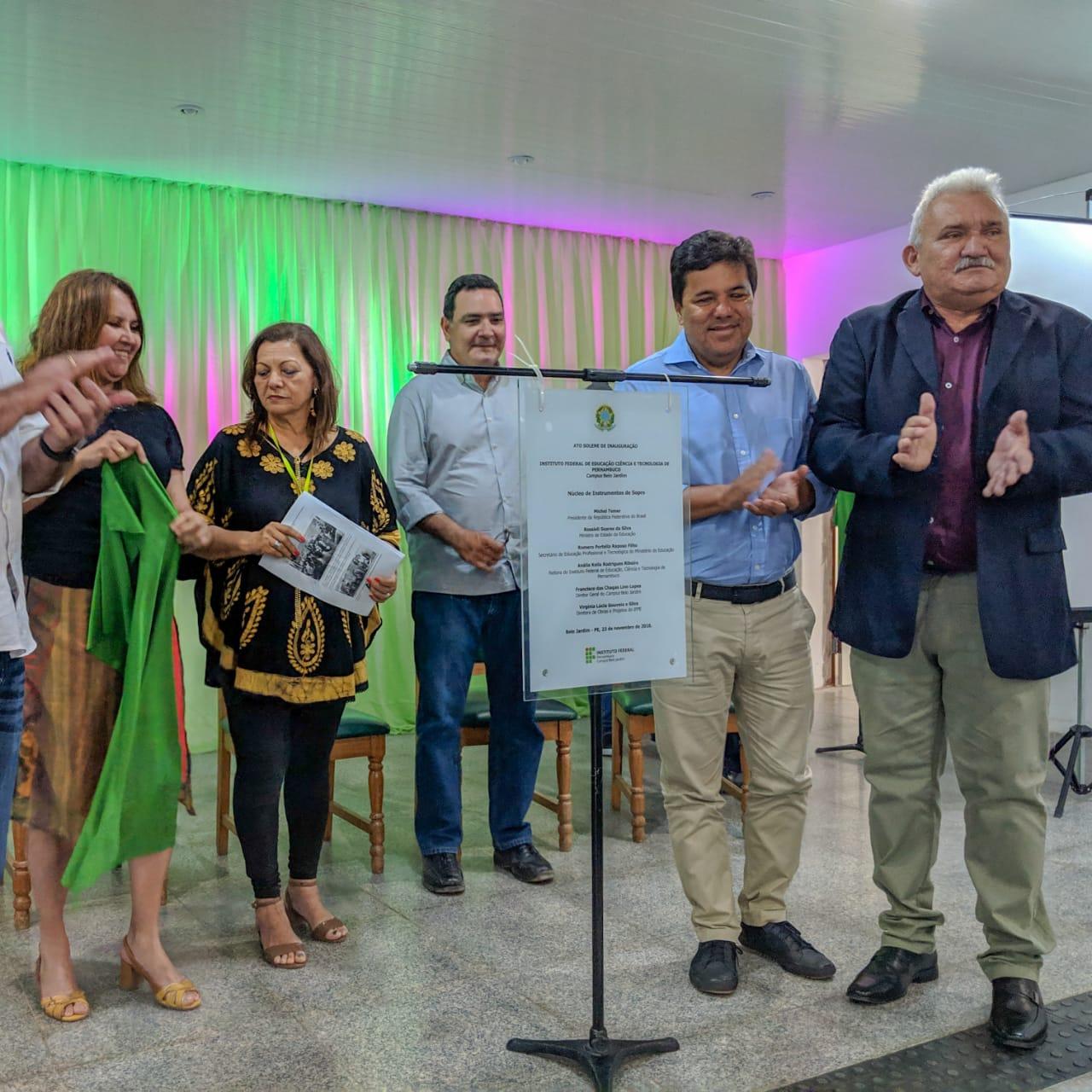 'Independente de mandato, o amor por PE e BJ continua', declarou Mendonça durante evento no IFPE