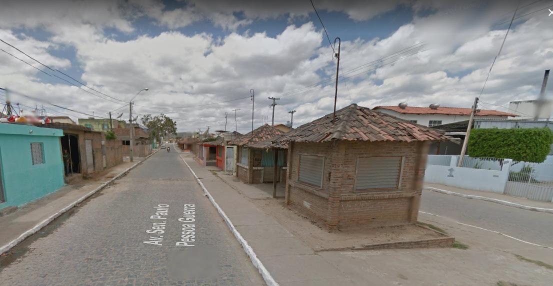 Qualificação da Av. Senador Paulo Guerra consta do relatório do TCE como obra paralisada. Reprodução / Google Maps
