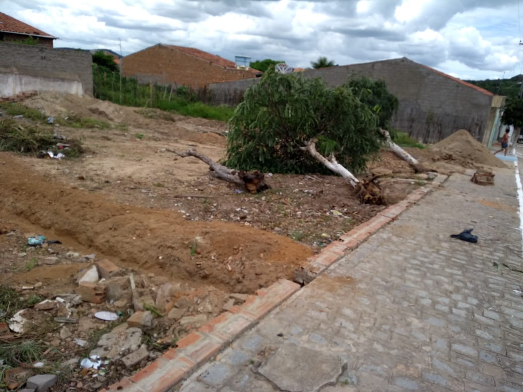 Terreno fica localizado no centro de Vila Nova. Foto: Cortesia