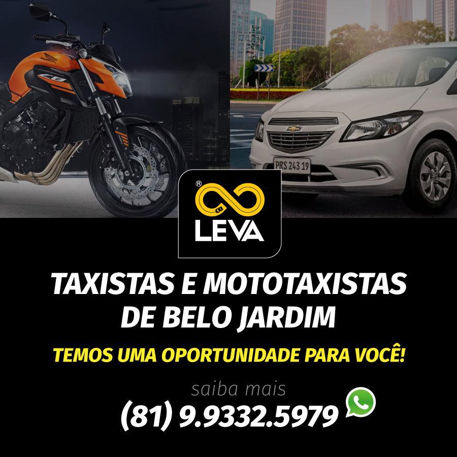 LEVA, serviço de transporte por aplicativo, agora também com mototáxi em BJ