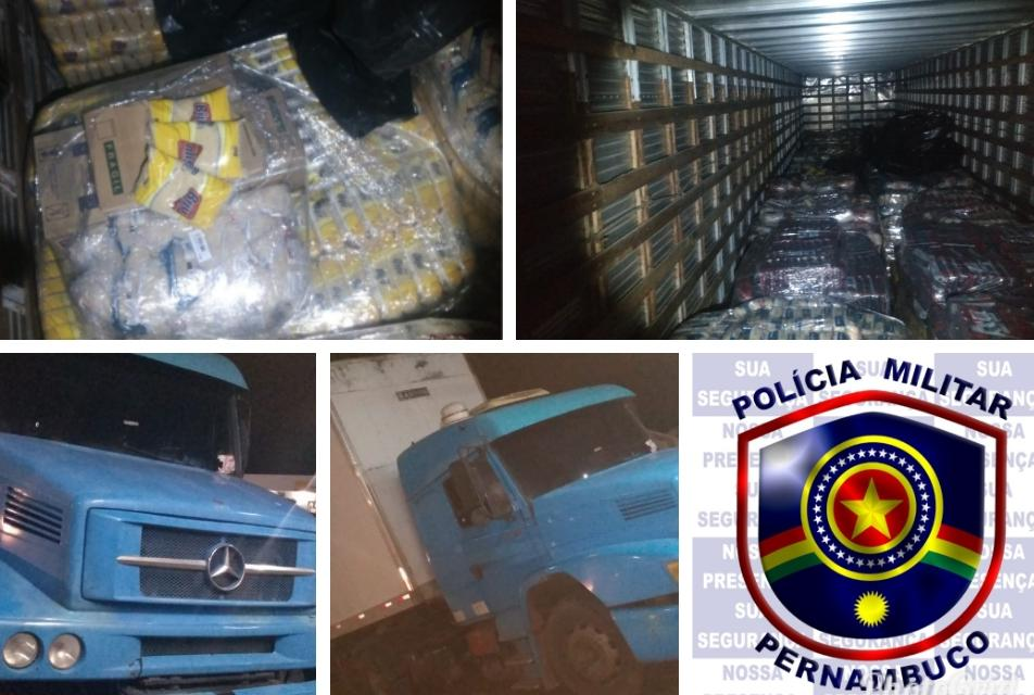 Polícia Militar recupera 30 mil quilos de alimentos roubados em Pesqueira