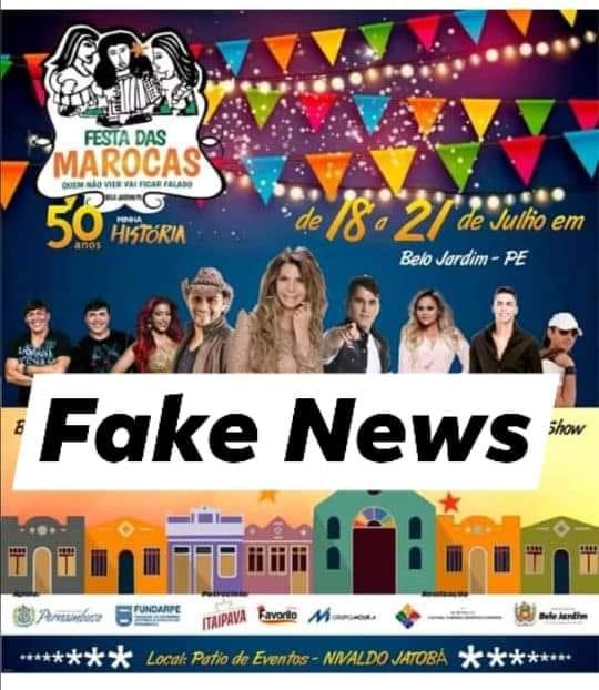 Secretaria de Cultura desmente boatos sobre atrações da Festa das Marocas 2019
