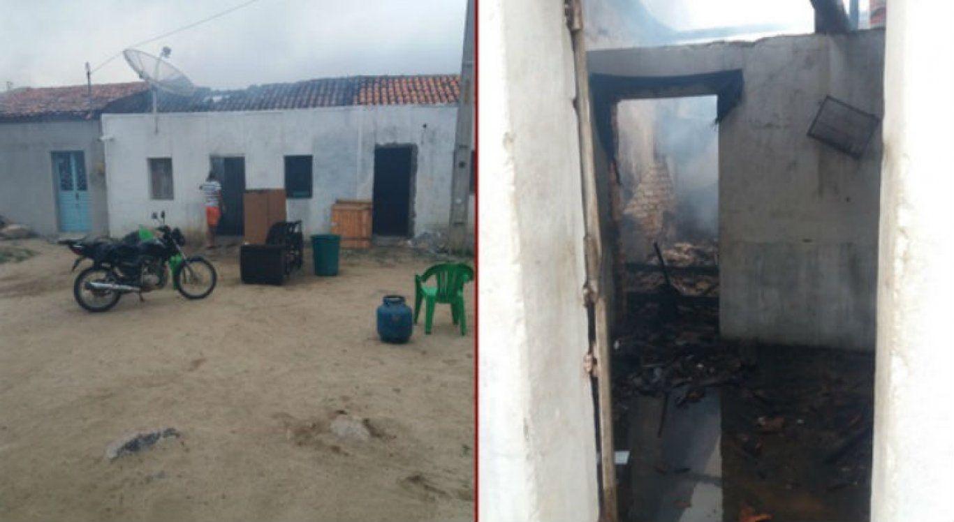 Homem é detido suspeito de atear fogo na casa da mãe idosa no Agreste