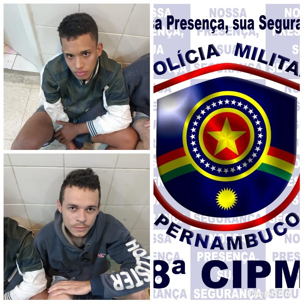 Polícia Militar prende suspeitos de assalto em Pesqueira