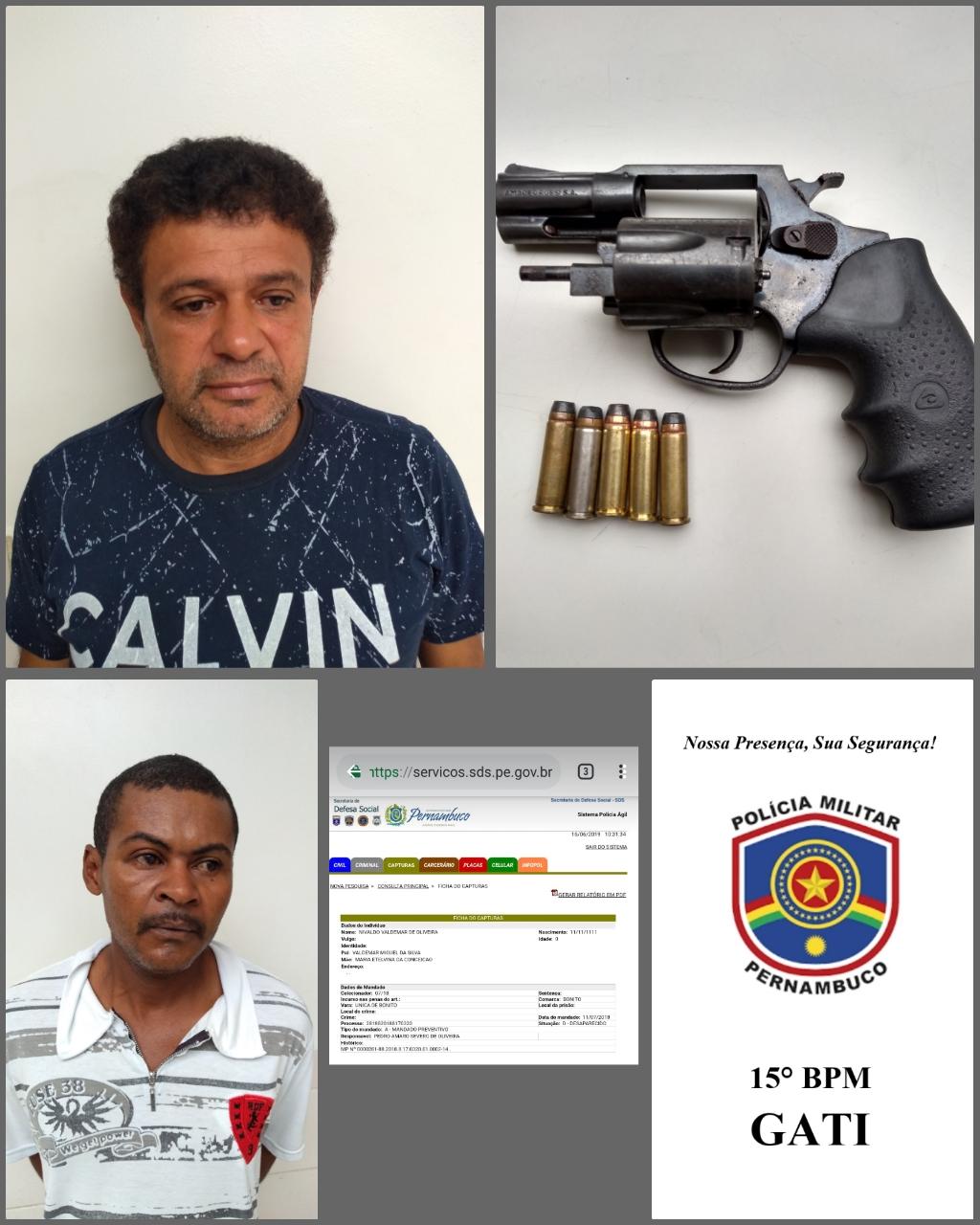 Homem com mandado de prisão por homicídio foi preso em Belo Jardim