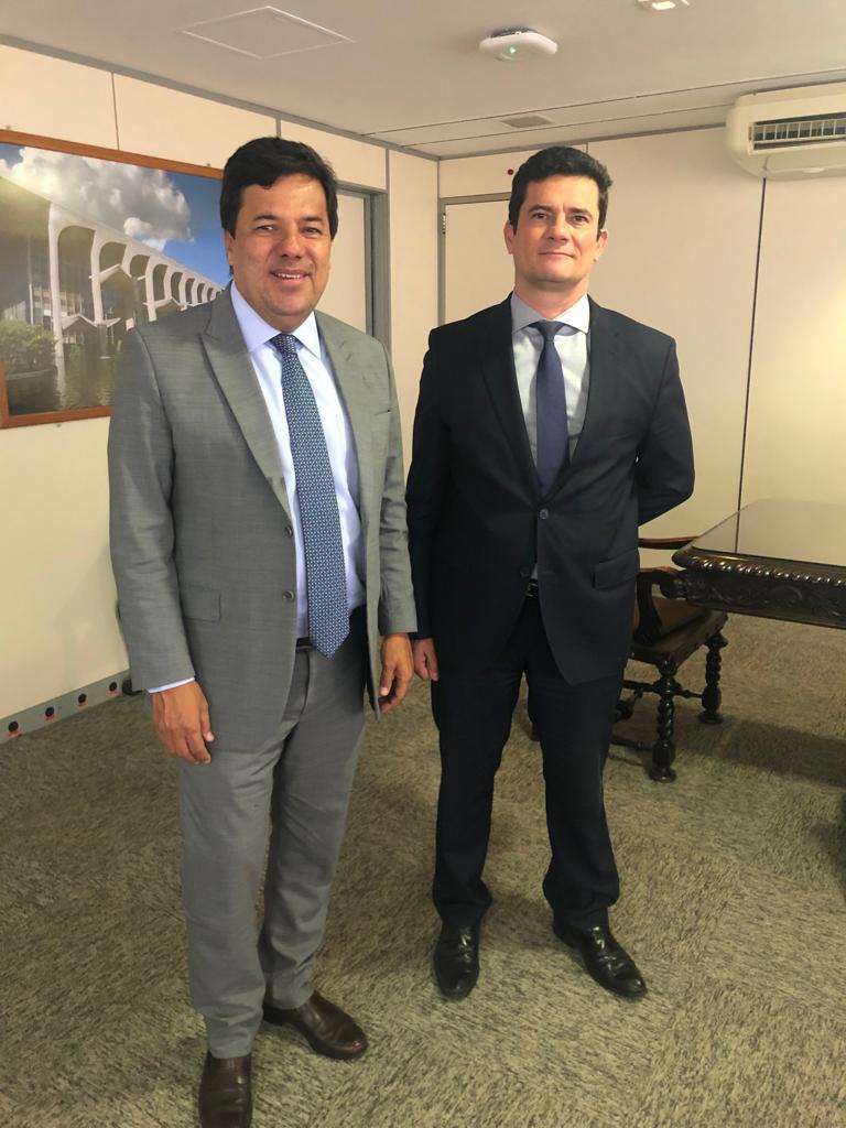 Mendonça Filho diz a Sérgio Moro que vai trabalhar junto ao Democratas pela aprovação do pacote anticrime