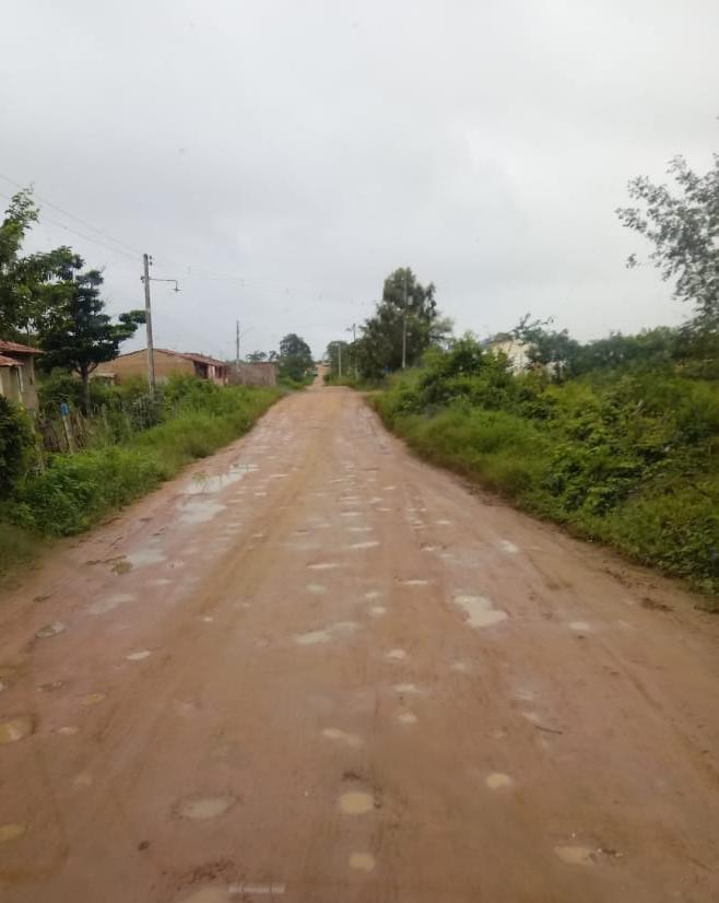 Moradores denúncias péssimas condições da estrada de Lagoa da Chave