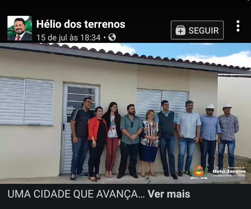 Principal opositor, prefeito de Belo Jardim tenta pegar carona em obra do Governo Federal