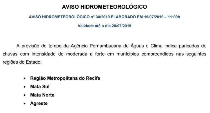 Primeiro dia das Marocas deve ser de chuva em Belo Jardim