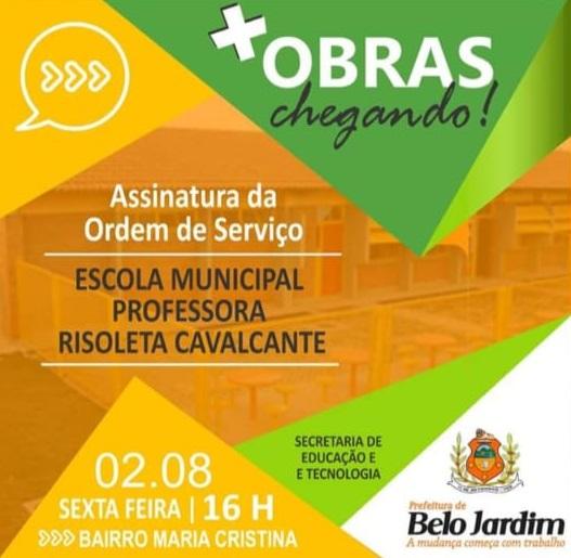 Prefeitura anuncia ordem de serviço de escola no Maria Cristina, mas construção de creche segue paralisada