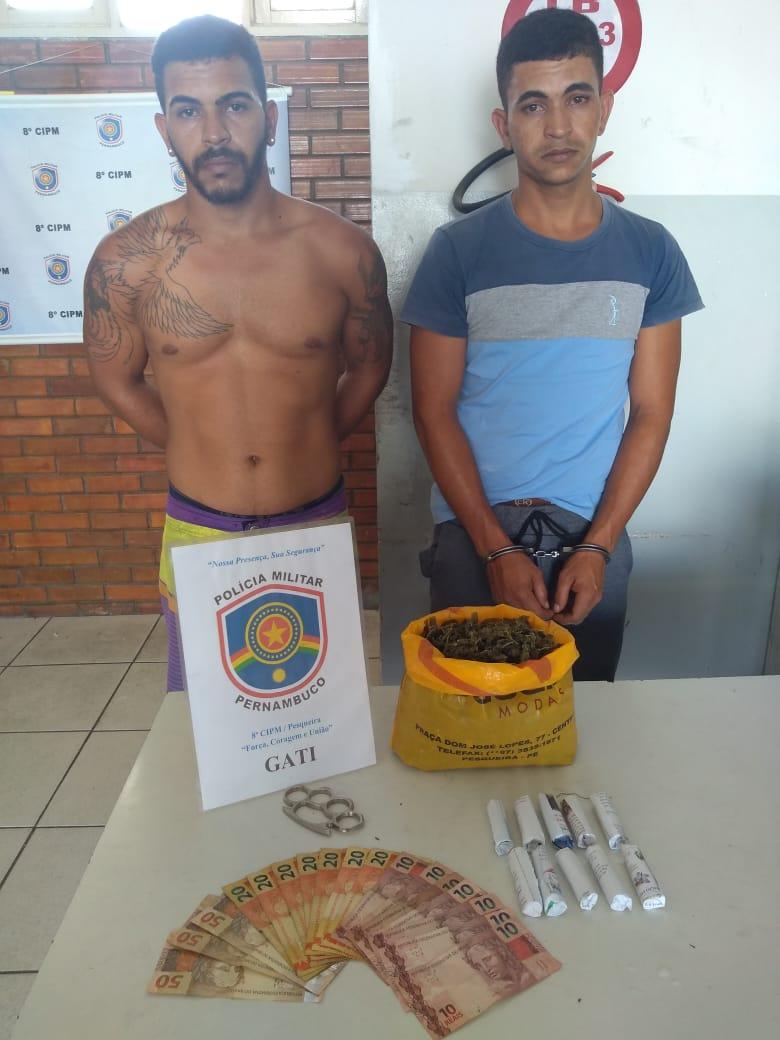Homens são presos por tráfico de drogas em Pesqueira
