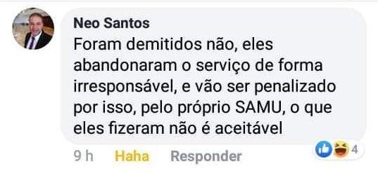 Irmão do prefeito de Belo Jardim chama profissionais do SAMU de irresponsáveis
