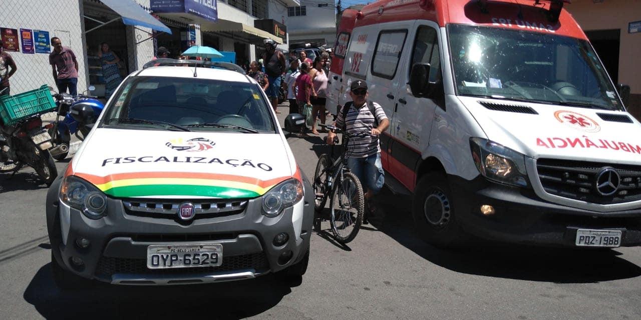Jovem é atropelado por moto no centro de Belo Jardim