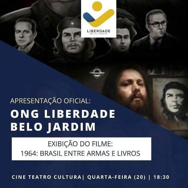 ONG exibe o filme '1964: O Brasil entre armas e livros'