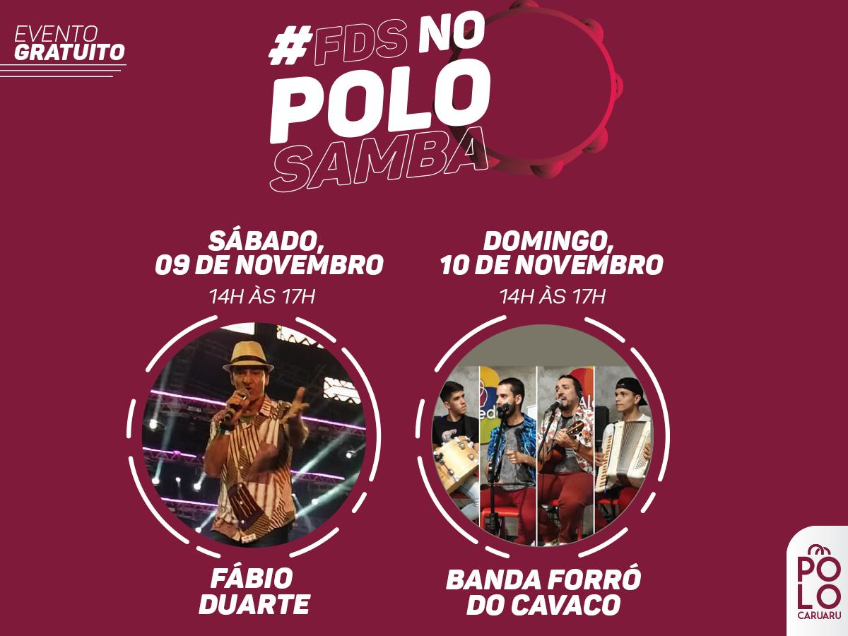 Fim de semana com programação musical no Polo Caruaru