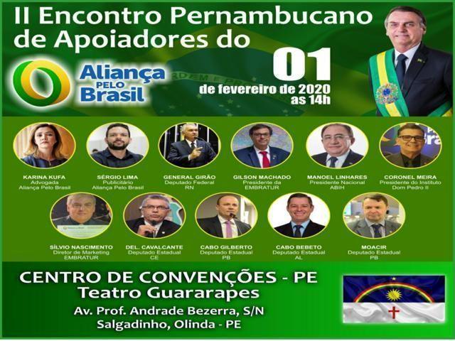 Pernambuco terá evento de apoio ao Aliança Pelo Brasil