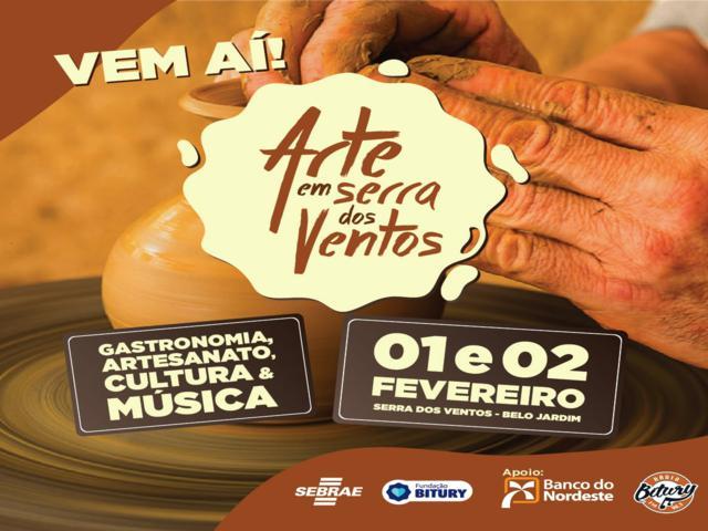 Evento em Serra do Vento vai reunir artesanato, música e gastronomia local