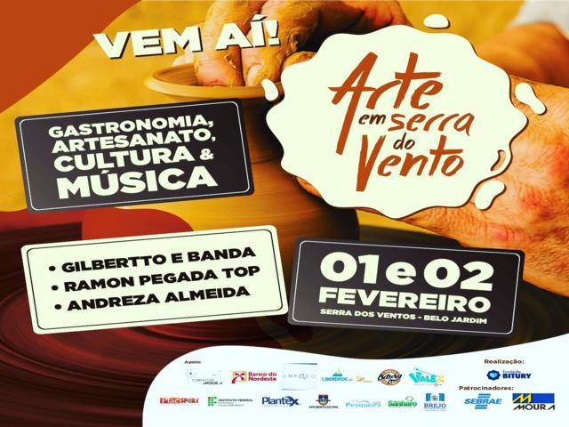 'Arte em Serra do Vento' divulga programação de shows