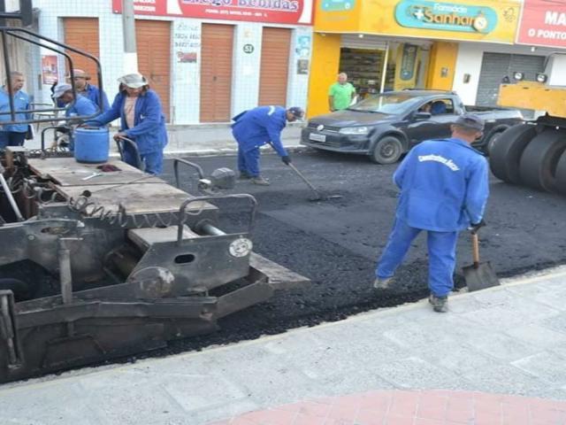 Começam as obras para asfaltar nove ruas de Sanharó