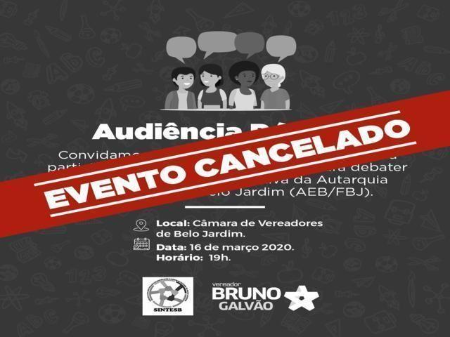 Audiência pública sobre a AEB/FBJ é cancelada em Belo Jardim