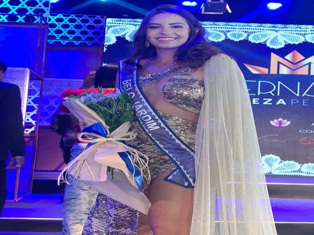 Miss Belo Jardim Letícia Severo é vice-campeã do Miss PE
