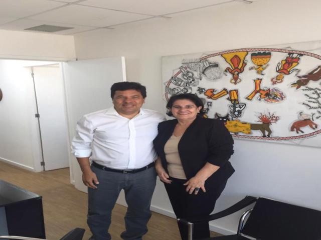 A foto foi tirada em outro momento, em visita da Ex-prefeita ao presidente do Democratas Pernambuco. Divulgação