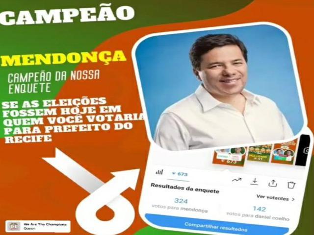 Nome de Mendonça Filho ganha força e vence todas as enquetes para prefeito do Recife