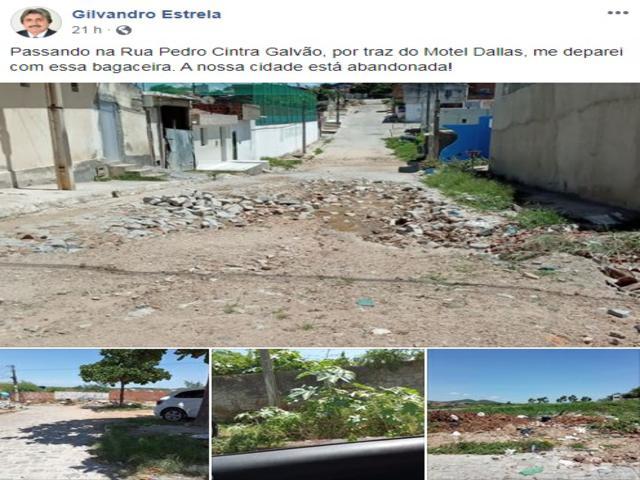 Gilvandro Estrela cobra providências para o bairro Floresta