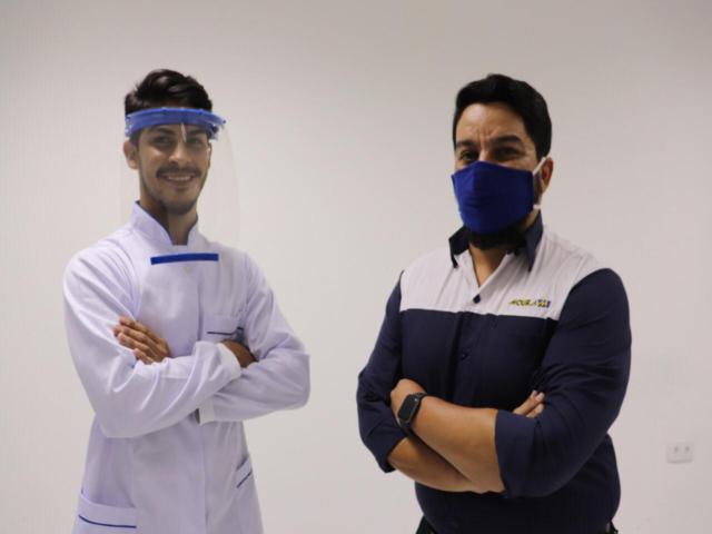 Moura inicia produção e doação de escudos faciais