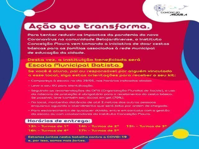 Instituto Conceição Moura realiza nova ação de doações