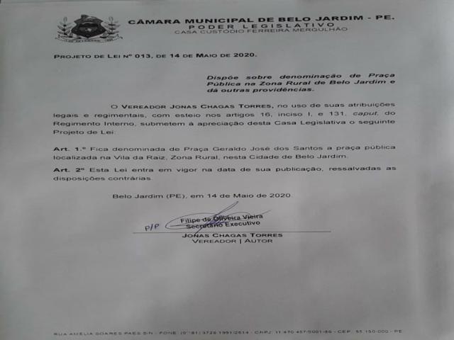Vereador propõe tirar o nome da Praça Nossa Senhora da Conceição e gera revolta