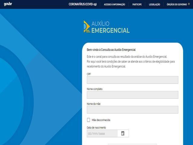 Governo disponibiliza novo site para acompanhar auxílio emergencial