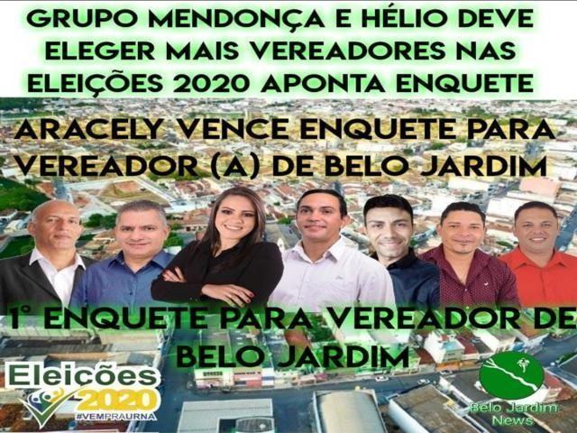 Grupo Mendonça segue sólido e pré-candidata a vereadora ganha enquete de maneira democrática