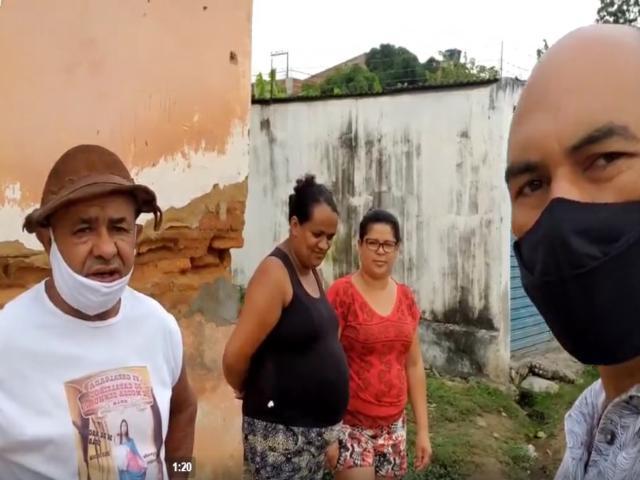 Moradores dizem que estão cansados de promessas do Grupo Hélio