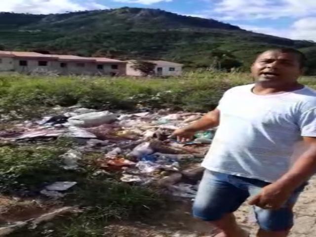 Morador revoltado grava vídeo contra promessas de prefeito de BJ