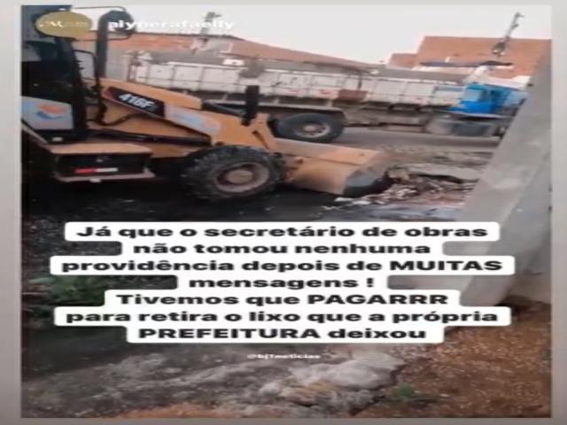 Moradora do Viana e Moura da BR envia recado para Secretário de Obras