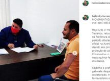 Em post, Hélio dos Terrenos admite que estava ausente e que a prefeitura estava fora de ordem