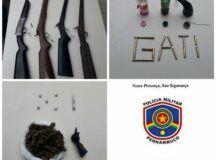 GATI prende três homens, apreende armas de fogo e drogas em Belo Jardim